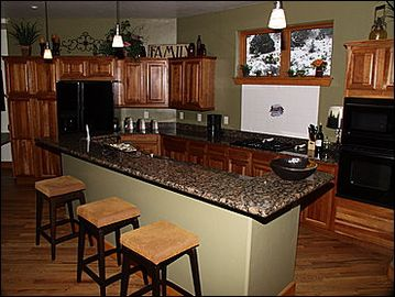 Remodeled Kitchen Bar Seating for 3