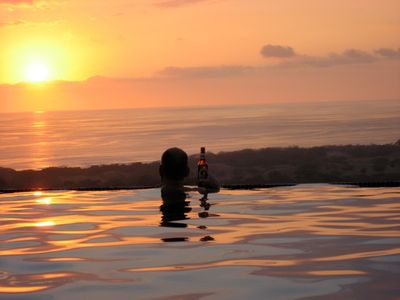 Sunset from the infinity pool.