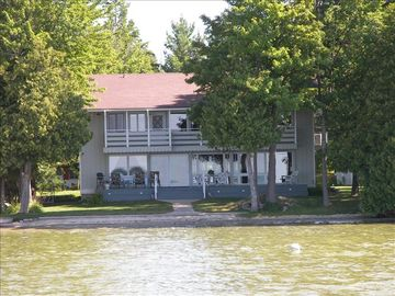Lake Leelanau house rental - Front og the house from the water.