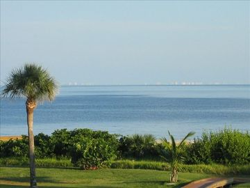 Ocean view from lanai & living room-Ft. Myers-Naples Shoreline in far distance