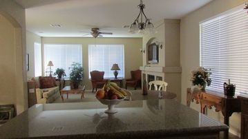 Queen Creek house rental - View of the family room from kitchen
