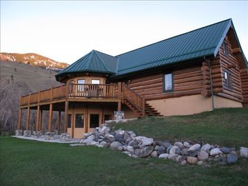 The lodge with decks and patios