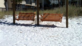 Thomas Drive Area condo photo - New Swings on the beach for relazing and watching the SUNSET