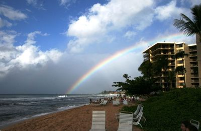 KS 360 Rainbow over Kaanapali Beach