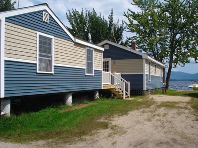 Ossipee Lake house rental - attached bunk house and driveway