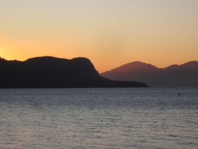 Wrangell lodge rental - Warnofski Island, the elephants nose, view from our lot