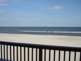 Taken March 15, 2013 - after Sandy. LOTS of BEACH!! - Brant Beach house vacation rental photo