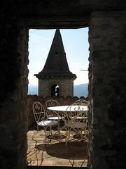 Montfort castle photo - Splendid seating with breathtaking view on first floor terrace.