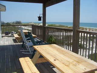 Cape San Blas house photo - Plenty of sitting on the decks