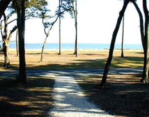 Daufuskie Island cottage photo - View sitting on the Porch Steps