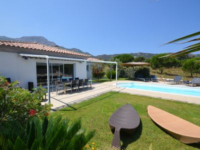 Villas Mandarine terrain: villa with heated pool, 900 m from the beach.