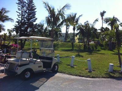 Golf carts are the chief mode of transport. Rentals available within 2 minutes.