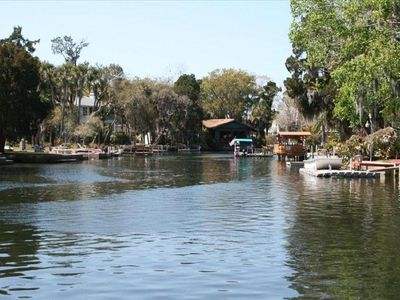Weeki Wachee Riverfront view with direct access to the Gulf of Mexico