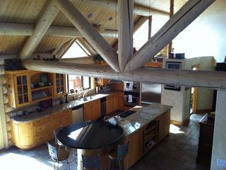 Snowbasin estate photo - kitchen form the loft