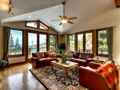 You will enjoy views in all directions from the comfort of this hilltop home.
