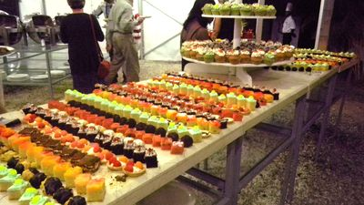 Dessert table at the Welcome Party