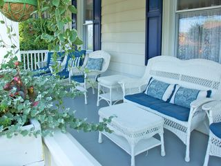 Avon-by-the-Sea house photo - Quiet end of the porch perfect for lounging and reading that summer novel
