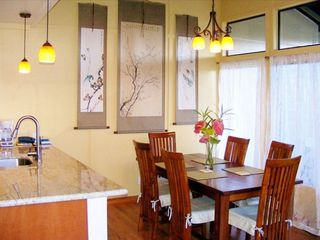 Princeville condo photo - Spacious dining room with vaulted ceilings above