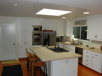 Newly remodeled kitchen with huge skylight
