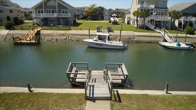 Private floating Dock on Deepwater Canal, Boat, Fish or Kayak, Feeds to the ICWW