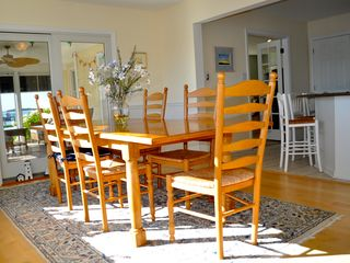 Bethany Beach house photo - Dining room comfortably seats 8 to 10 or more (additional chairs provided)