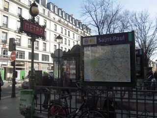 Your metro station - 4th Arrondissement Pompidou Le Marais apartment vacation rental photo