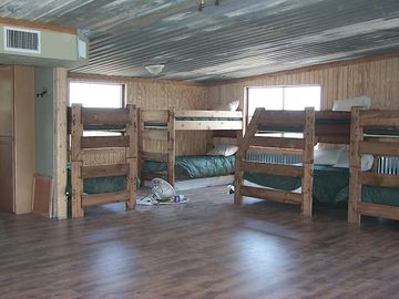 Bunk Beds in the Bunkhouse. 6 Twin Beds, 2 Doubles, Futon--Sleeps 10-12