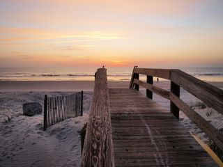 Jacksonville Beach townhome photo - The beach walkway is just steps from the back door offering wide open beaches!