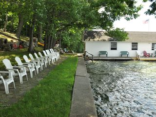 Center Harbor cottage photo - Sit, enjoy the sun and solitude, read a book at the water's edge.
