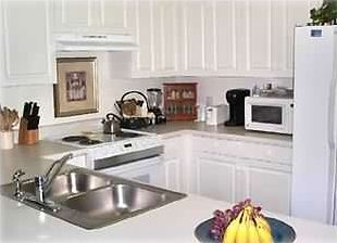Majestic Sun condo rental - View of the Kitchen from the Dining Room