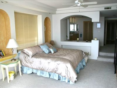Master Bedroom with Jacuzzi tub and bathroom in background