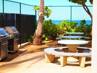 Makaha condo photo - Beachfront BBQ area