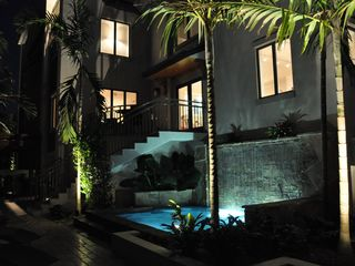 Old Naples villa photo - Hot Tub at Night
