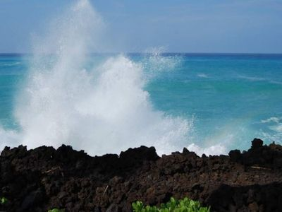 The waves at the ocean club are close enough to touch!
