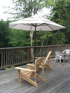 Front deck in summer