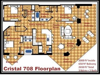 Puerto Penasco condo photo - Cristal 708 spacious floorplan includes 2 balconies right over the beach!