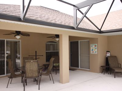 Covered Lanai with ceiling fans