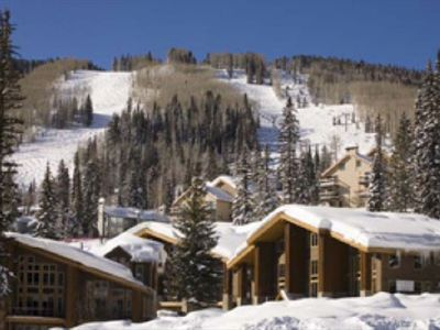 The beautiful Alpenglow Townhomes, just steps from the slopes.