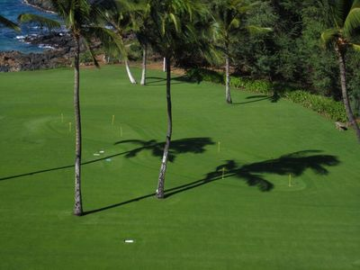 Wailea condo rental - Kihei Surfside putting green