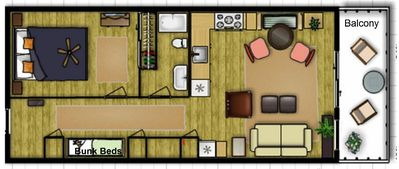 Floor Plan to give you an idea of the space.