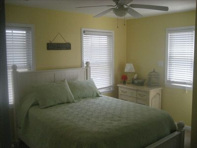 "Bright & sunny guest room w 32"" Plazma TV."