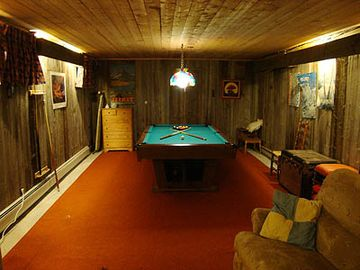 Pool Table in Finished Basement