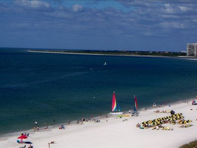 View the entire Marco Island Crescent Beach from the Direct Beachfront Balcony!