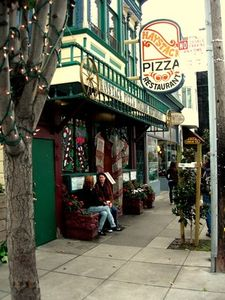 Haystacks pizza on 24th Street, yummy!