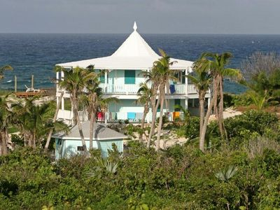 Elbow Cay and Hope Town house rental - Sunrise Point - Smaller building in the foreground is for the backup generator.
