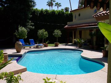 Palm Springs villa rental - Very private pool and spa that enjoys the sun all day long.