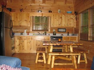 Cherry Log cabin photo - Kitchen area fully equipped with evrything you need for your stay.