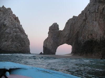 The famous Arch, just around the corner from Grans Solmar