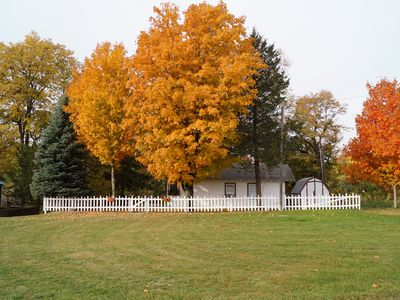 Fall at the Cedar River Cabin