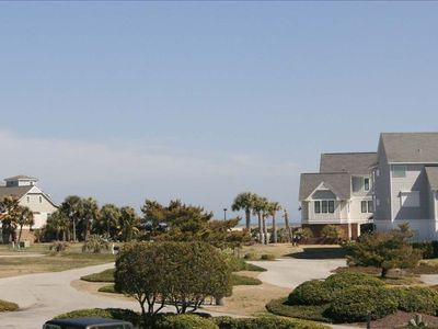 Carolina Beach condo rental - View toward the ocean from our balcony